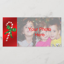 Candy Cane Christmas Holiday Photo Card Template