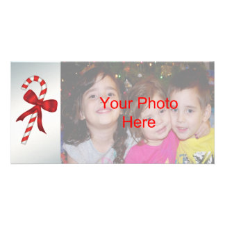 Candy Cane Christmas Holiday Photo Card Templates