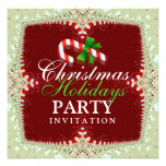 Candy Cane Christmas Holidays Party Invitation