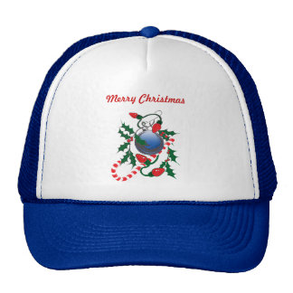 Candy Cane, Christmas Lights & Holly design Trucker Hat