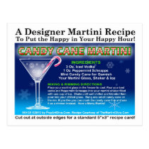 Candy Cane Christmas Martini Recipe Postcard