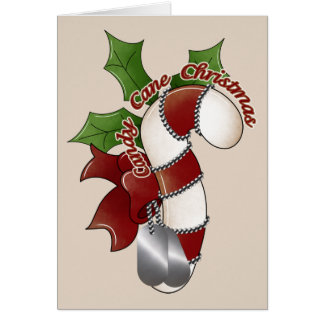 Candy Cane Christmas Military Style Card