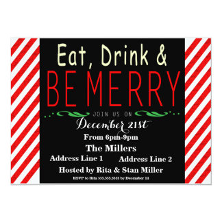 Candy Cane Christmas Party Invitation Template