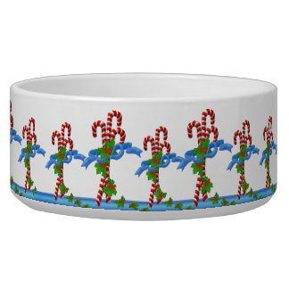 Candy Cane Christmas Pet Bowls Dog Water Bowl