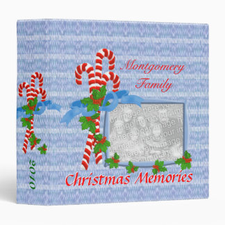 Candy Cane Christmas Photo 1.5 inch Binder