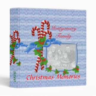 Candy Cane Christmas Photo 1 inch Binder