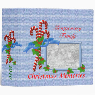 Candy Cane Christmas Photo 2 inch Binder