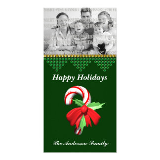 Candy Cane Christmas Photo Card