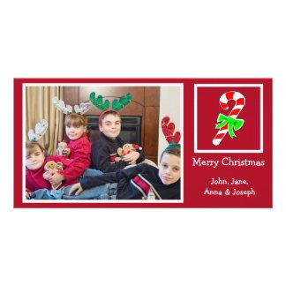 Candy Cane Christmas Photo Card (Burgandy)