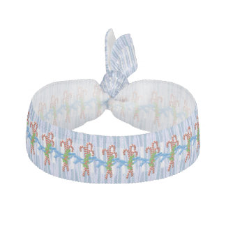 Candy Cane Christmas Ribbon Hair Ties