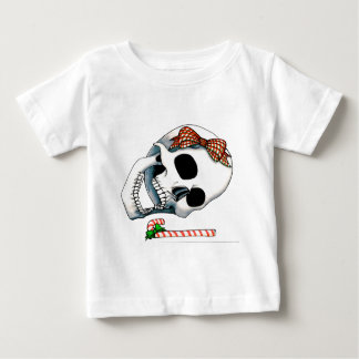 Candy Cane Christmas Skull Baby T-Shirt
