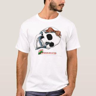 Candy Cane Christmas Skull T-Shirt