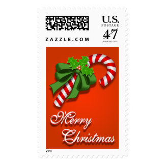 Candy Cane Christmas Stamp