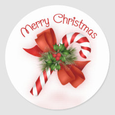 Candy Cane Christmas Stickers at Zazzle