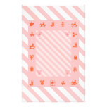 Candy Cane Christmas Stripes and Toys Stationery Design