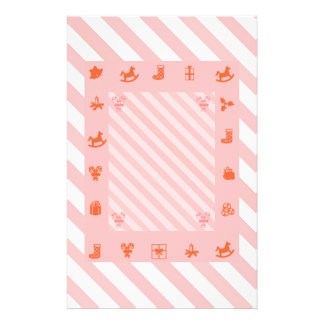 Candy Cane Christmas Stripes and Toys Stationery