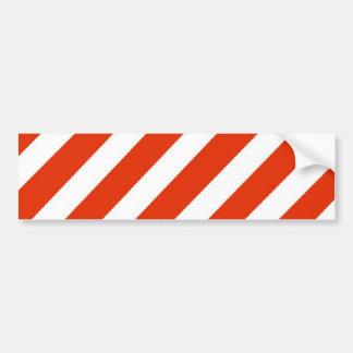 Candy Cane Christmas Stripes Car Bumper Sticker