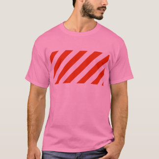 Candy Cane Christmas Stripes T-Shirt
