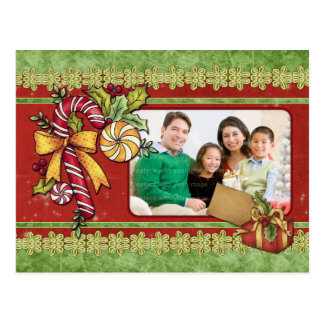 Candy Cane Christmas Template Postcard