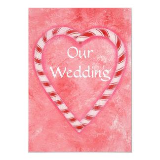 Candy Cane Christmas Wedding Invitations