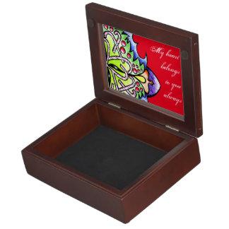 CANDY CANE CIRCLE MEMORY BOX