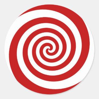 Candy Cane Classic Round Sticker