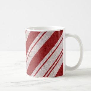 Eddie Bauer Christmas Candy Canes Dark Green Ceramic Coffee Mug