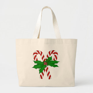 Candy Cane Collection Large Tote Bag