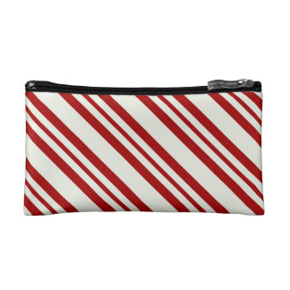 Candy cane cosmetic cosmetics bags