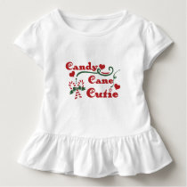 candy cane cutie toddler t-shirt