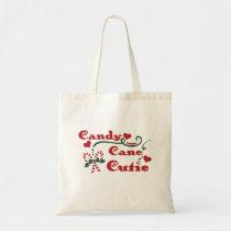 candy cane cutie tote bag
