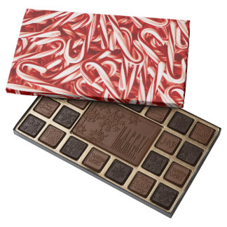 Candy Cane Decorated Chocolate Boxes