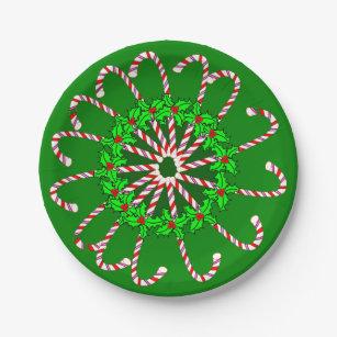 Candy Cane Design on Paper Plates  sc 1 st  Zazzle & Candy Cane Plates | Zazzle