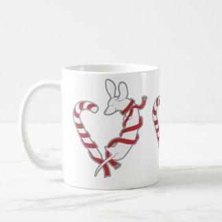 Candy Cane Doxie Classic White Coffee Mug