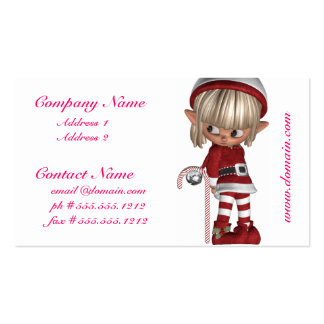 Candy Cane Elf Business Cards