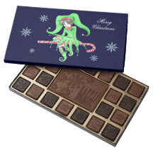 Candy Cane Elf Chocolate Box 45 Piece Assorted Chocolate Box