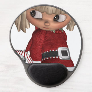 Candy Cane Elf Gel Mouse Pad