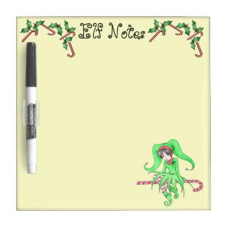 Candy Cane Elf Holiday Dry Erase Board