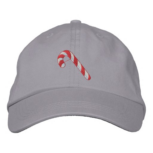 Candy Cane Embroidered Baseball Caps