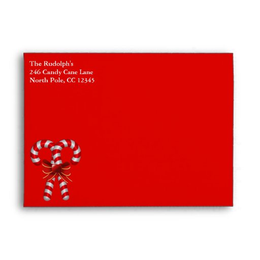 Candy Cane Envelope