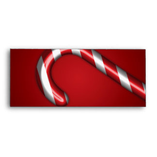 Candy Cane Envelope in Red