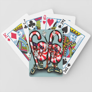 Candy Cane Gang Bicycle Playing Cards