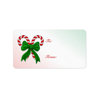 Candy Cane gift label