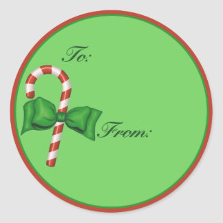 Candy Cane Gift Tag