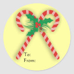 Candy Cane Gift Tag Sticker