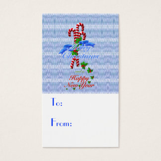 Candy Cane Gift Tags - Business Cards