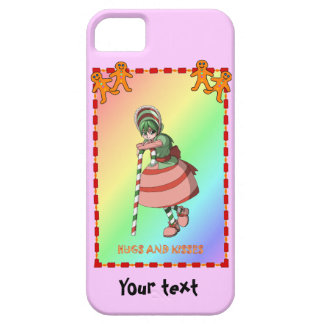 Candy Cane girl and gingerbread men iPhone SE/5/5s Case