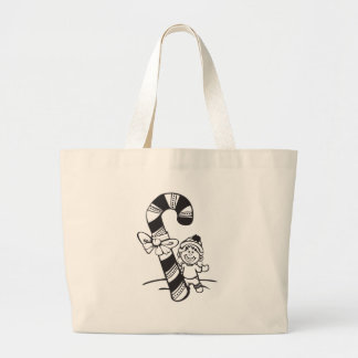 Candy Cane Girl Large Tote Bag