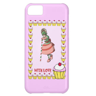 Candy Cane girl with cupcakes iPhone 5C Cases