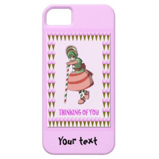 Candy Cane girl with ice creams iPhone SE/5/5s Case